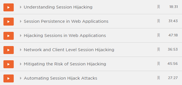 Modules in the Session Hijacking course