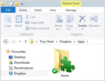 Dropbox / Apps / Azure