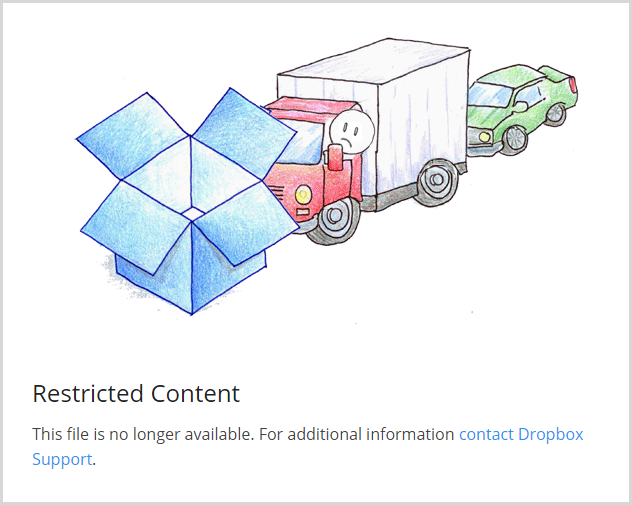 Dropbox no longer serving a file