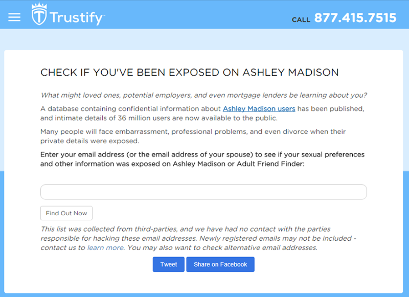 search ashley madison email address