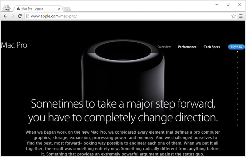 Apple Mac Pro website