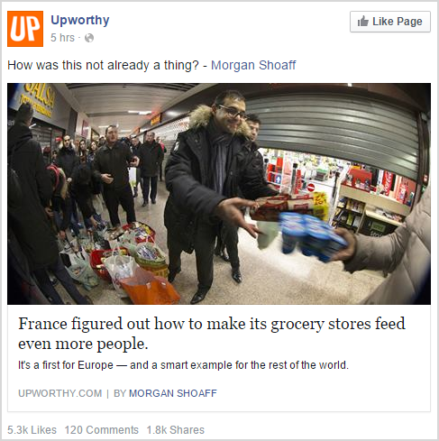 A bait headline by Upworthy