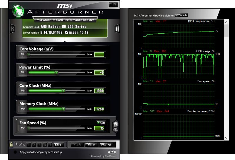 GPU running at 100% utilisation
