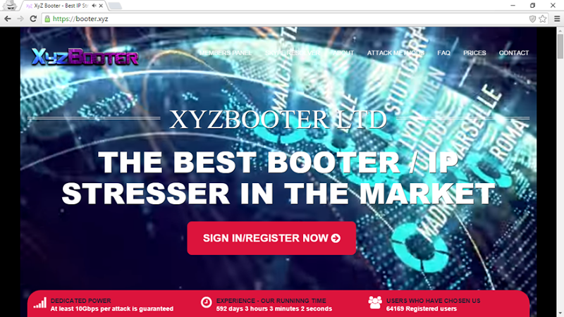 The booter.xyz service