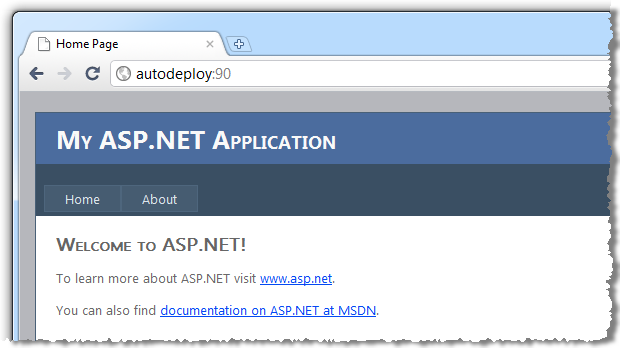Successfully deployed website
