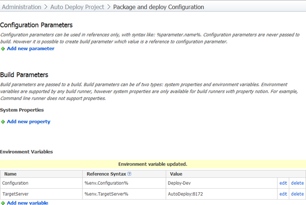Configure environment variables