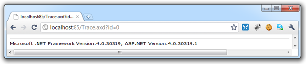 Trace exposing .NET framework version