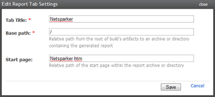 Adding a Netsparker tab to the build page