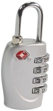 Luggage padlock with a four digit PIN