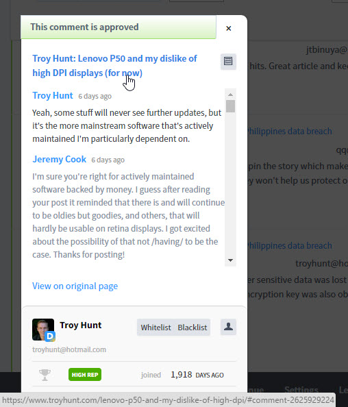 Troy Hunt: Disqus and the disappearing comments (which still