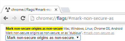 Marking non-secure origins as non-secure