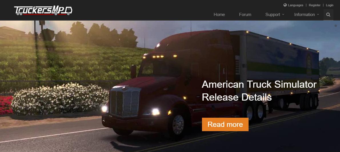 The TruckersMP website