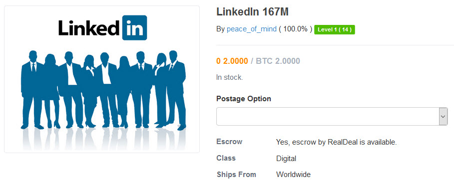 LinkedIn data for sale