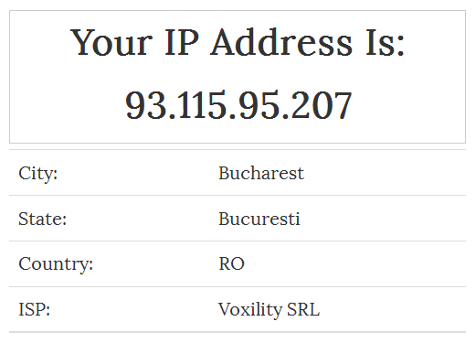 IP address whilst using Tor