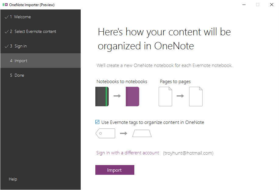 Heres how your content will be organized in OneNote