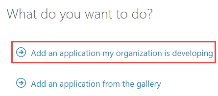 Add an application my organization is developing
