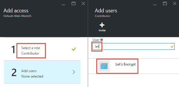 Adding the Let's Encrypt user