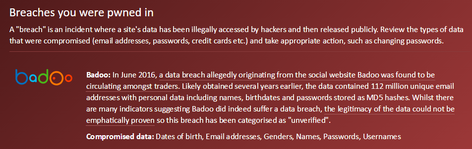 Badoo breach description