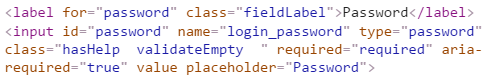 Login password field without a max length