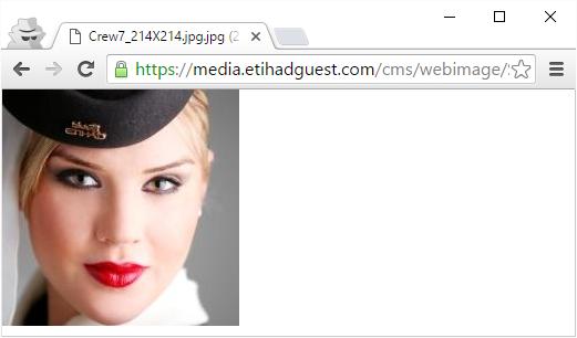 Insecure flight attendant