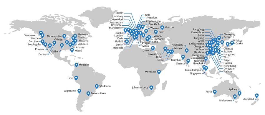 CloudFlare's CDN locations
