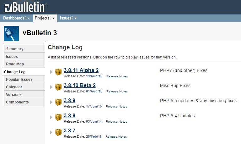 vBulletin 3 Updates