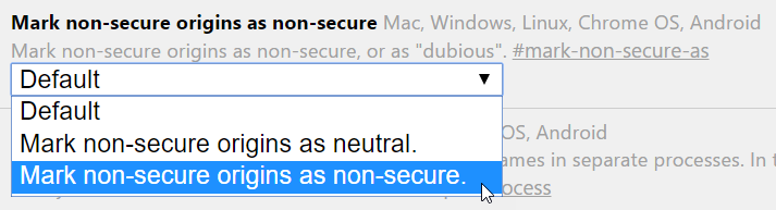 Mark non-secure origins as non-secure