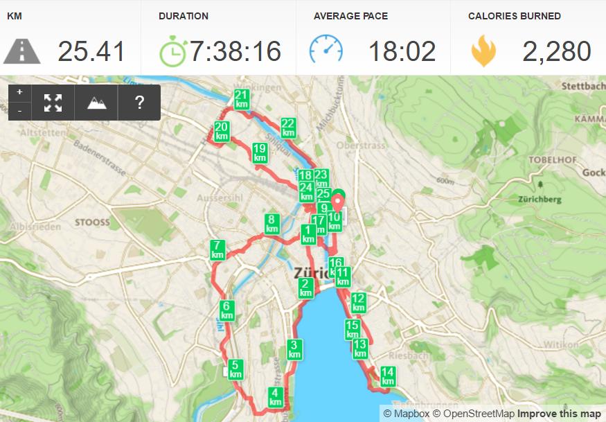 Epic Zurich walk