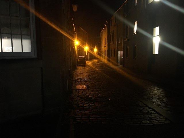 Lonely, dark street