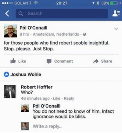 Nasty comment about Robert Scoble