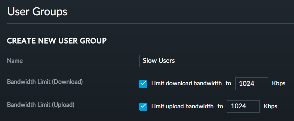 Creating a slow users group