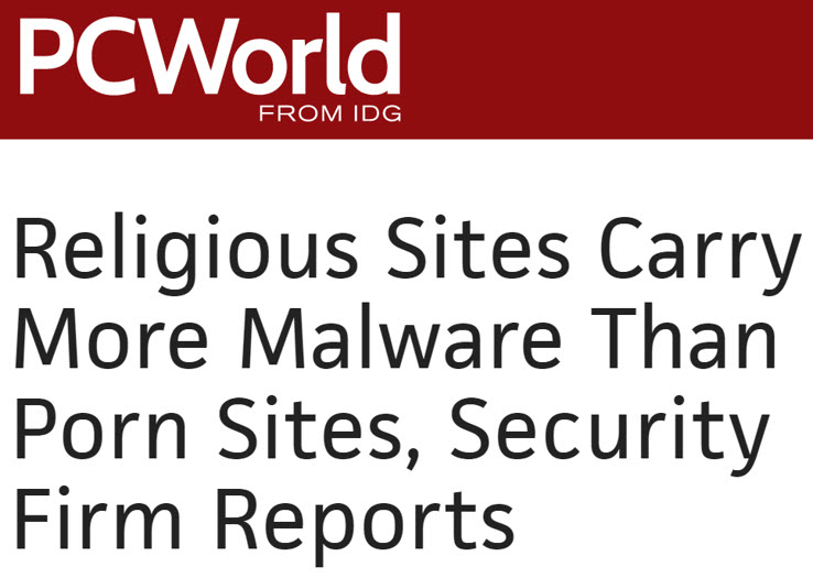 Religious Sites Carry More Malware Than Porn Sites
