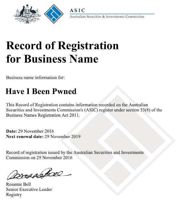 B2nd business name registration