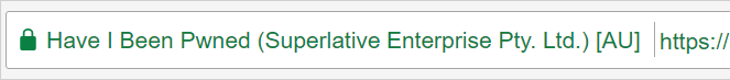 EV Superlative address bar
