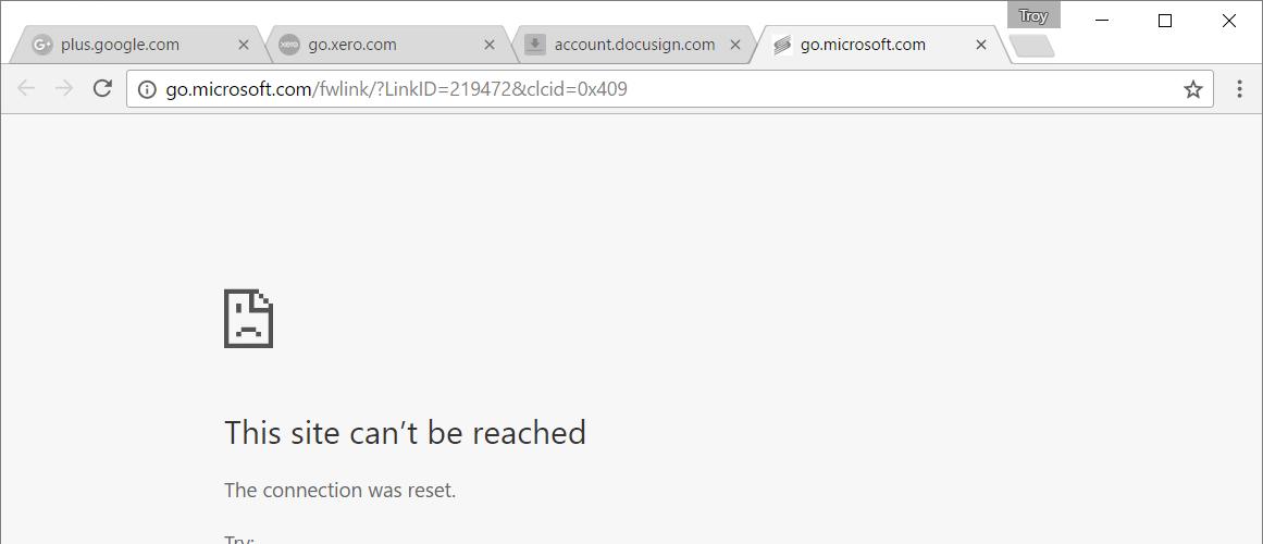HTTPS tabs not loading