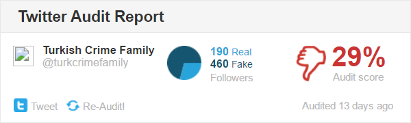 Only 29% of followers are real