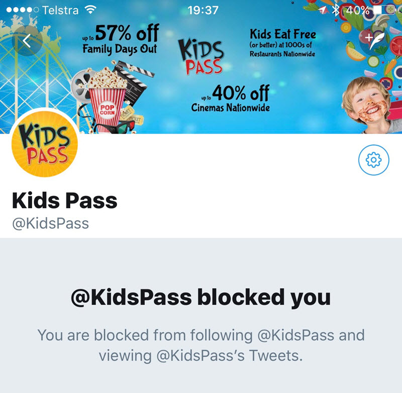 Kids Pass Blocked Me