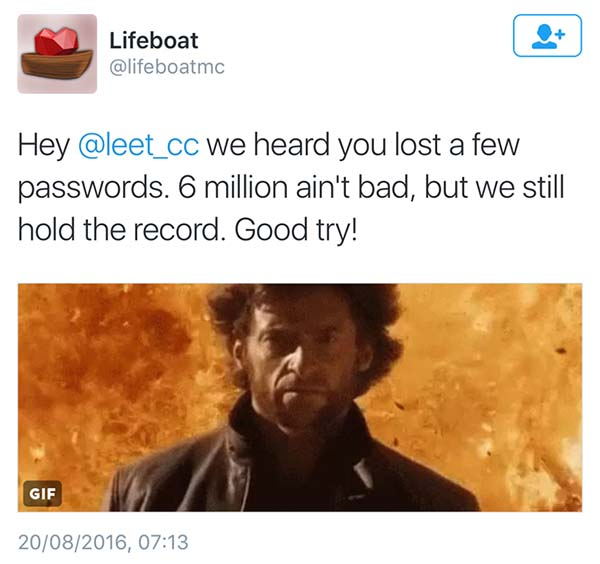Lifeboat boasting of data breach size