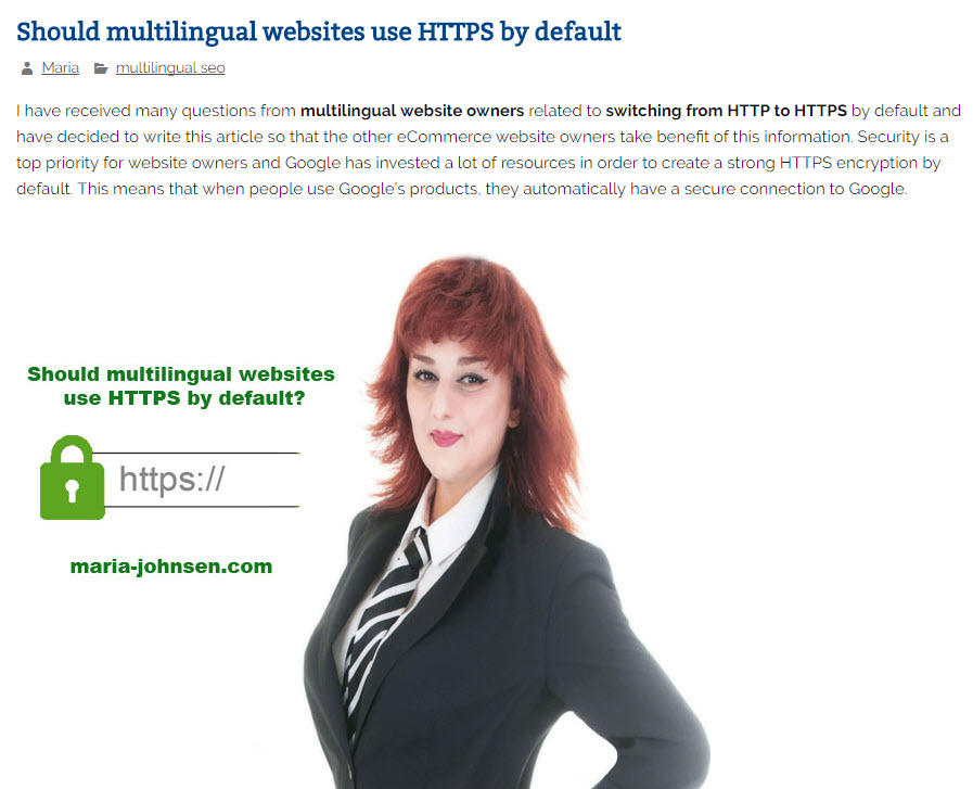 Should multilingual websites use HTTPS by default