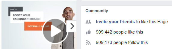 Neil Patel has over 900k Facebook followers. Well done Neil Patel! Neil Patel
