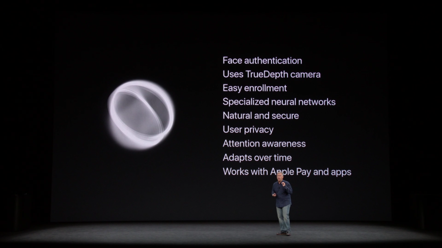 Bullet points of Face ID strengths
