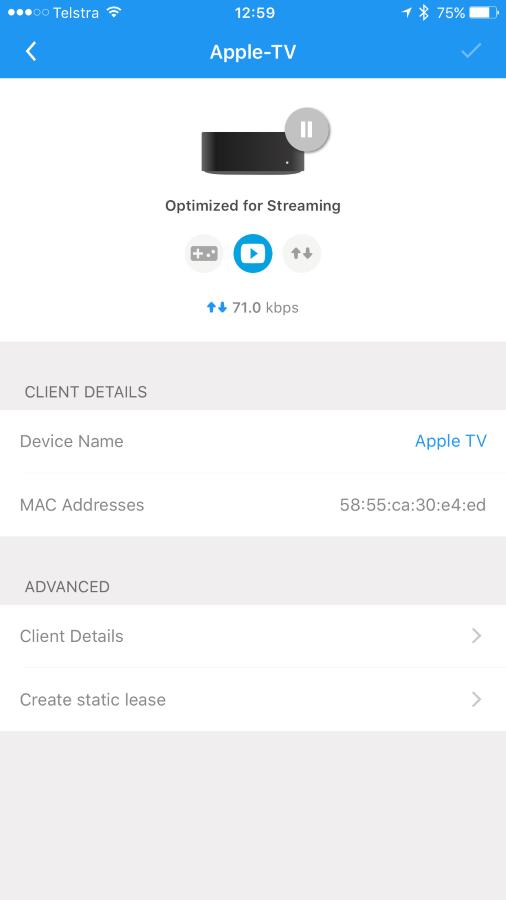 Optimising Apple TV for streaming