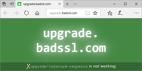 Edge Upgrade Insecure Requests