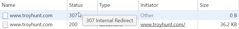 HSTS Redirect