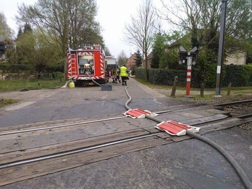 Hose on Train Tracks