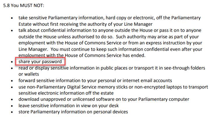 House of Commons Staff Handbook