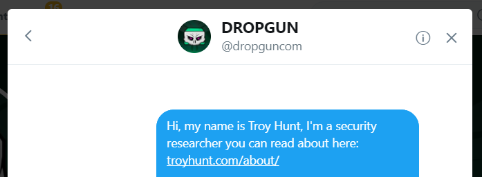 Dropgun Twitter DM  - Dropgun Twitter DM - Troy Hunt: Streamlining Data Breach Disclosures: A Step-by-Step Process