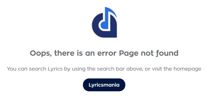 Lyrics Mania Error Page