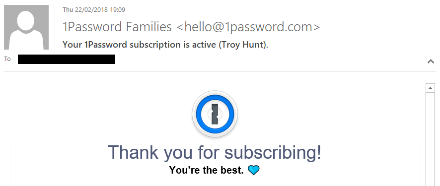 1Password Subscription