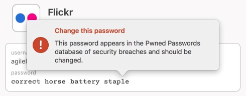 1Password desktop edition and Pwned Passwords